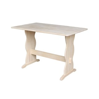 Unfinished Counter Height Turned Leg Rectangular Parawood