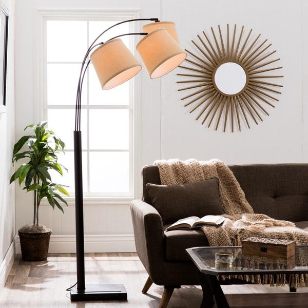 Avery 3 Light Arc Black Floor Lamp 16476923 Overstock
