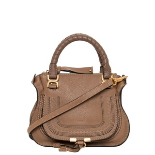 f5588803f9 Chloe 'Marcie' Mini Nut Brown Leather Shoulder Bag Check Price ...