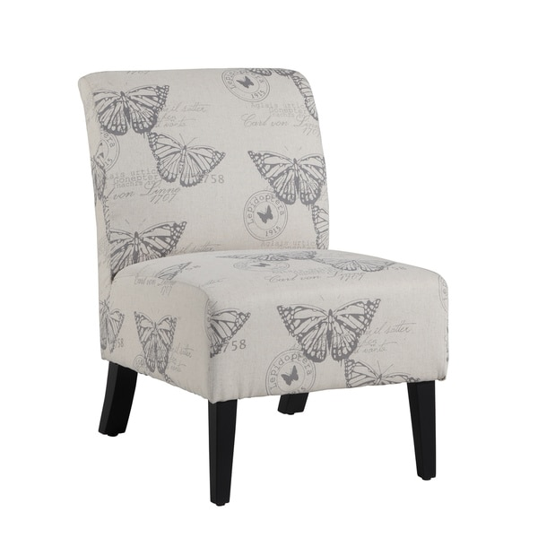 Oh Home Bradford Accent Chair With Butterfly Print