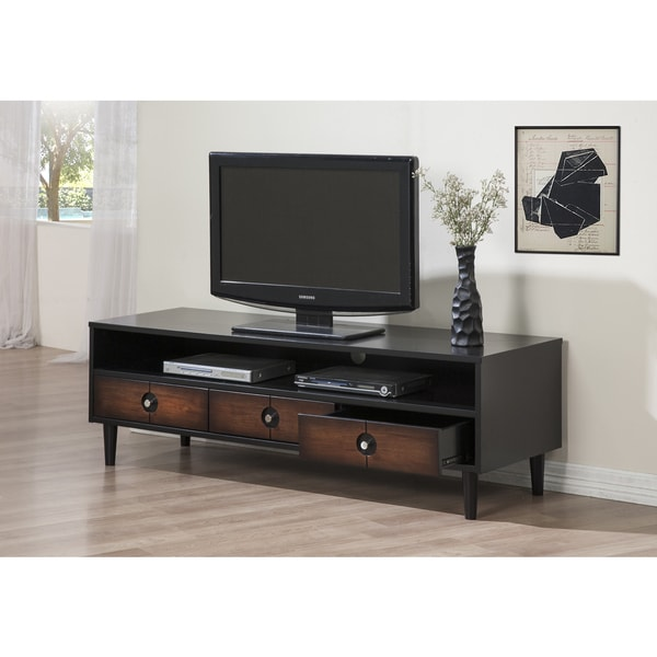 allen 3 drawer entertainment center console home living room stand tv theater ebay. Black Bedroom Furniture Sets. Home Design Ideas
