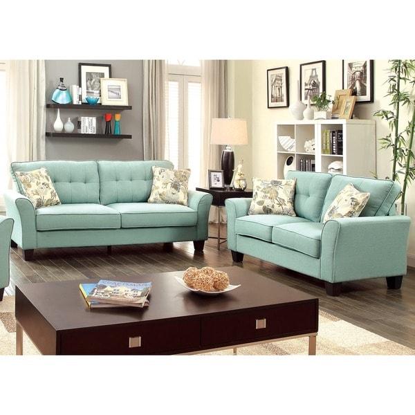 Deals On Sofa Sets: Furniture Of America Primavera Modern 2-Piece Linen