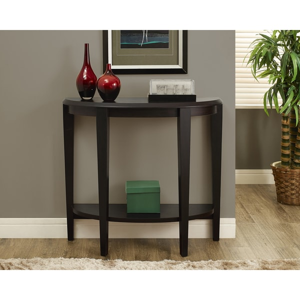 Cappuccino Hall Console Accent Table 16547258
