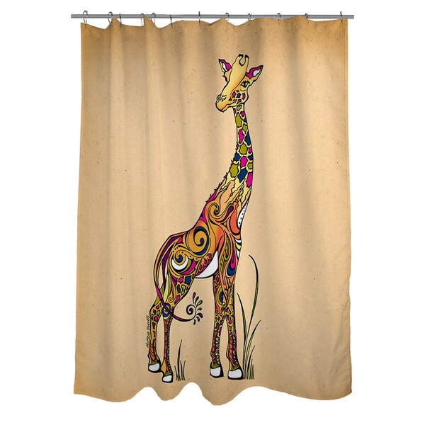 Thumbprintz Giraffe Shower Curtain