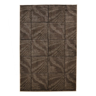 Oh Home Milan Collection Brown Turquoise Geometric Area