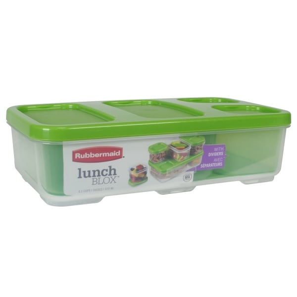Rubbermaid Lunch Blox Entrée Container With Dividers