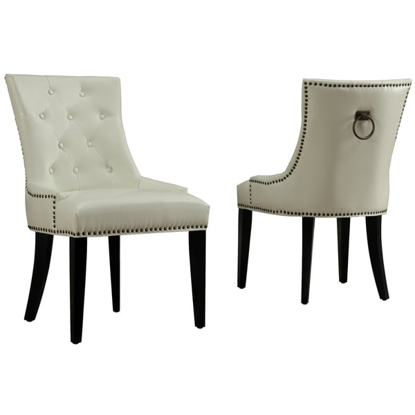Parsons Chairs For Sale Uptown Cream Leather Dining Chair - 16553417 - Overstock ...
