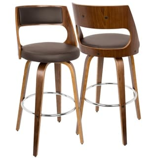 Walnut Adjustable Retro Bar Stool 15359618 Overstock