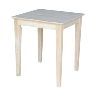 Unfinished Solid Parawood Shaker Console Table 16417862