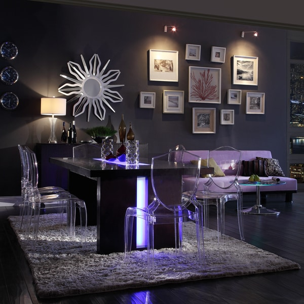 New Dining Room Sets: Dining Room Sets 7 Piece Set Modern LED Lights Chairs