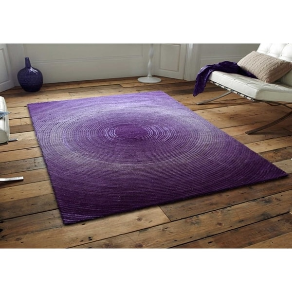 Purple Circle Rugs: Purple Artistry Circle Collection Rug (8' X 10