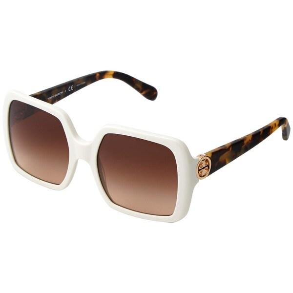 Cole Haan 51mm Rectangular Sunglasses Honey Tortoise One