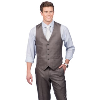 Kenneth Cole Reaction Men S Slim Fit Solid Grey Suit