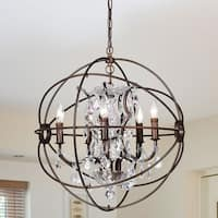 Warehouse of Tiffany Planetshaker 22 Inch 5-Light Crystal Orb Chanderlier