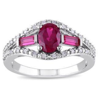 Black Hills Gold And Sterling Silver Created Ruby And