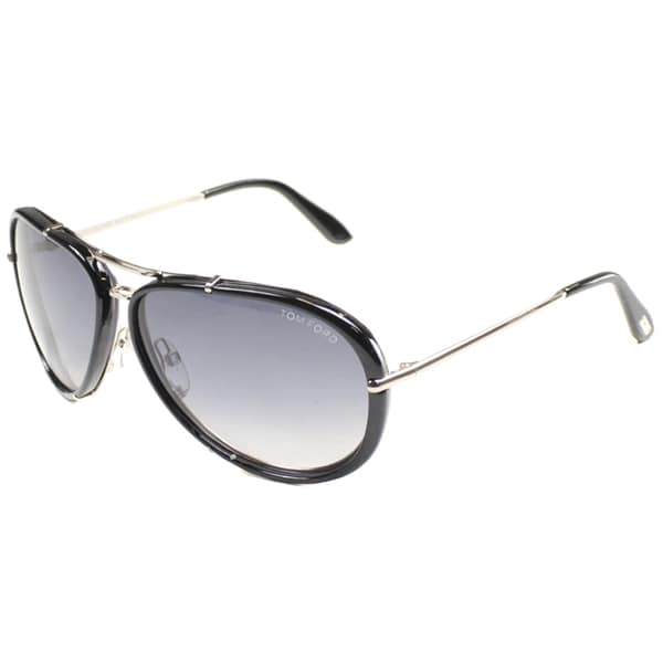 cb2159bf880a Tom Ford Marko Aviator Sunglasses Shiny Rhodium Black