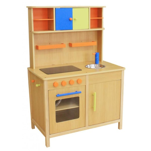 kid 39 s lots of fun wooden play kitchen 16566416 shopping big discounts on. Black Bedroom Furniture Sets. Home Design Ideas