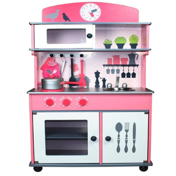 merske my very own pink wooden play kitchen 16566492 shopping big discounts. Black Bedroom Furniture Sets. Home Design Ideas