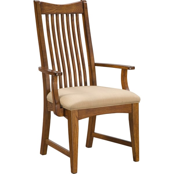 Unfinished Dining Room Chairs: Intercon Pasadena Revival Solid Oak Mission Arm Chair (Set