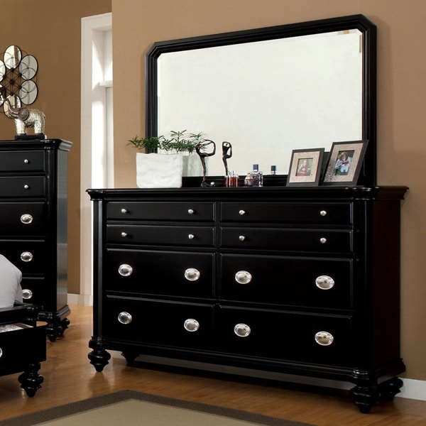 Furniture Of America Selinea Modern Black 2 Piece Dresser