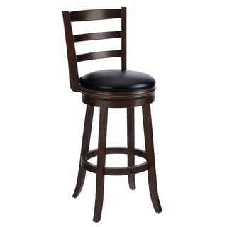 Cappuccino Solid Wood Swivel Barstool Set Of 2