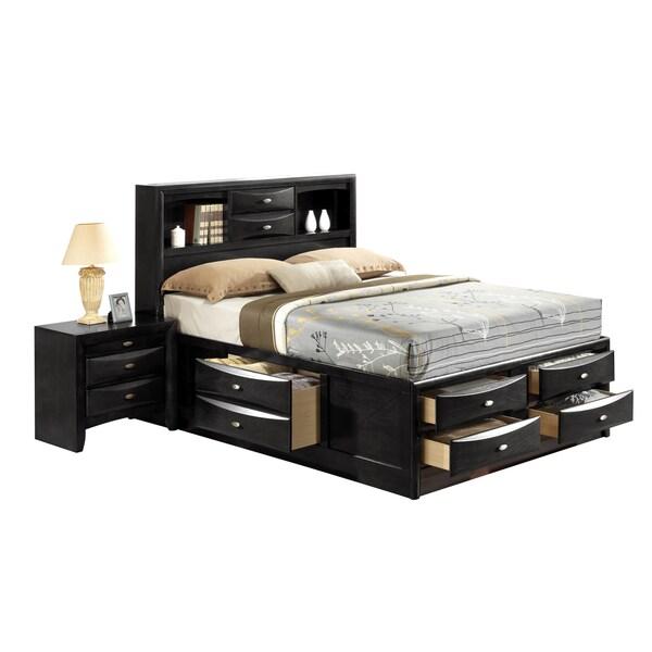Black Queen Storage Bed 16576232 Overstock Com