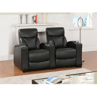 Brooklyn Three Seat Black Top Grain Leather Recliner Home