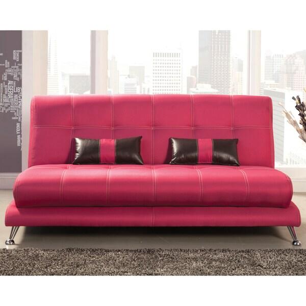 Furniture Of America Eissa Modern Fuchsia Sofa 16585039