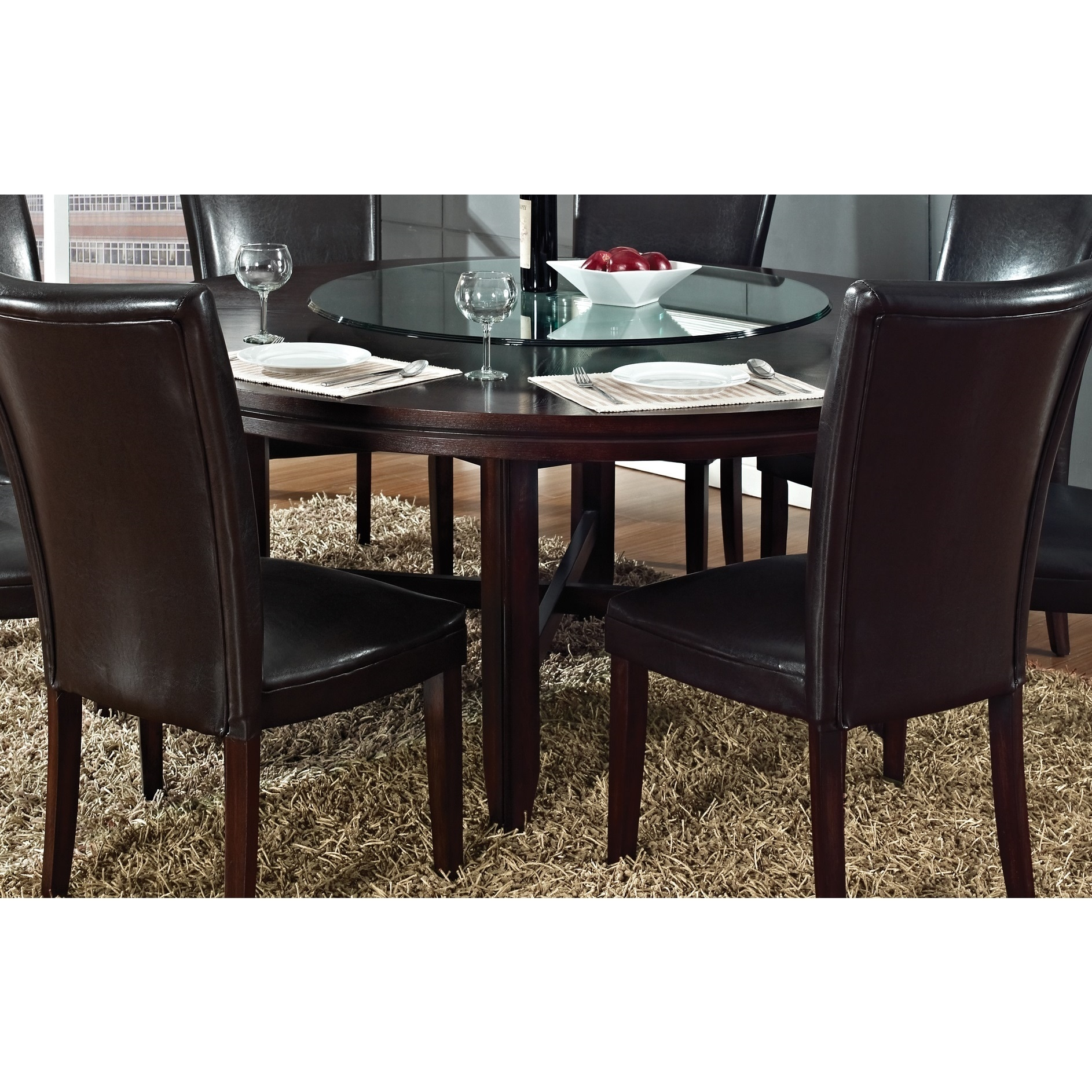 Hampton Dark Brown Cherry 72-inch Round Dining Table