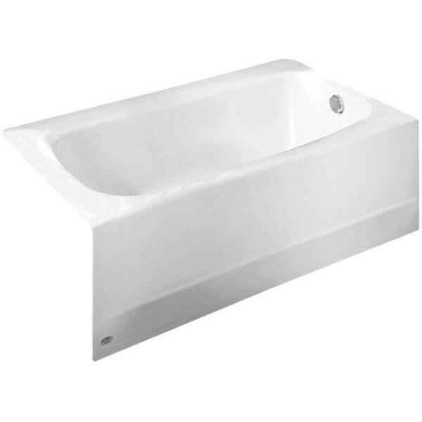 Cambridge White 5 Ft Americast Bathtub With Right Hand