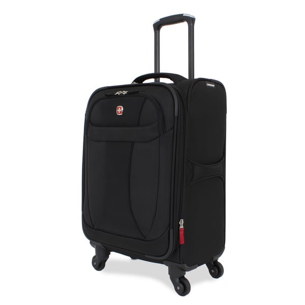 Wenger Lightweight Black 20 Inch Carry On Spinner Upright Suitcase
