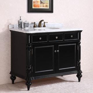 Carrara White Marble Top Single Sink Bathroom Vanity in ...
