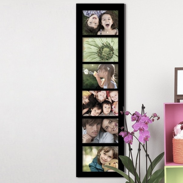 Adeco 6 Opening Black 5x7 Collage Picture Frame 16589777