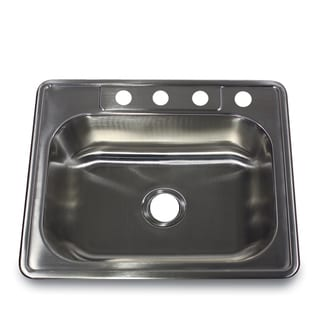 25 Inch 20 Gauge Drop In Stainless Steel Kitchen Sink With