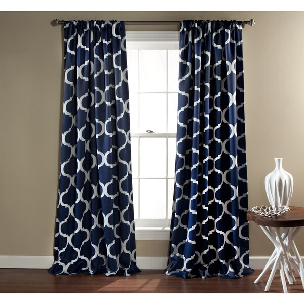 Lush Decor Geometric Blackout 84 Inch Curtain Panel Pair