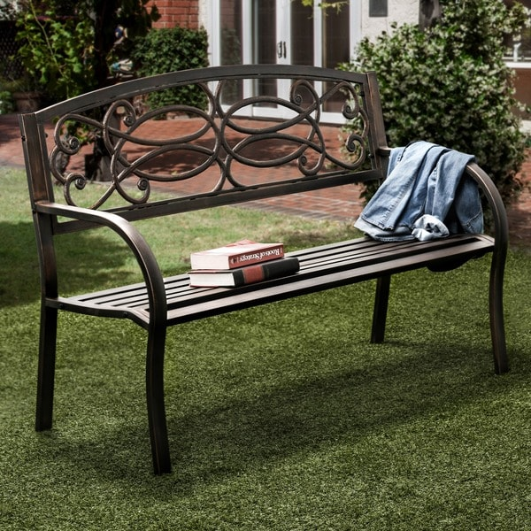 Outdoor Garden Bench Patio Seating Loveseat Porch Bench