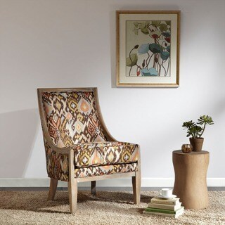 Curved Arm Paisley Wine Chair 11917715 Overstock Com