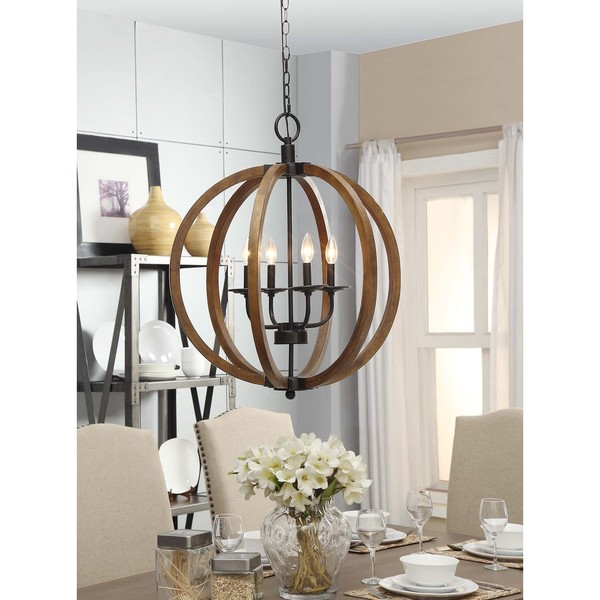 Vineyard Orb 4 Light Chandelier Overstock Shopping