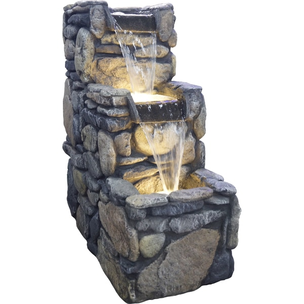 Glendale Resin Stone Lighted Fountain 16603579