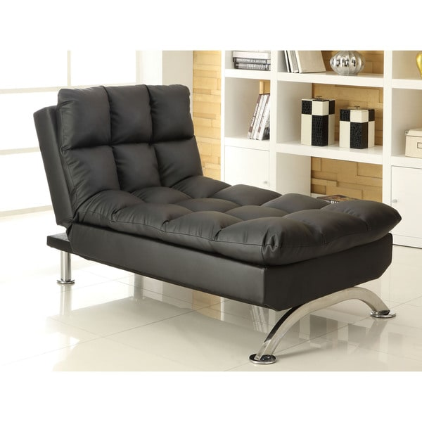 Furniture Of America Pascoe Bicast Leatherette Convertible