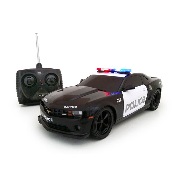 Chevy Camaro Remote Control 1 18 Scale Police Car