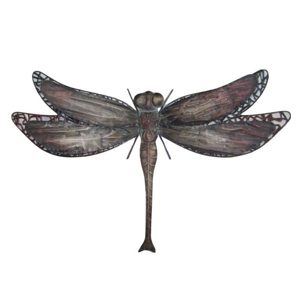 25-inch Dragonfly Metal Wall Decor