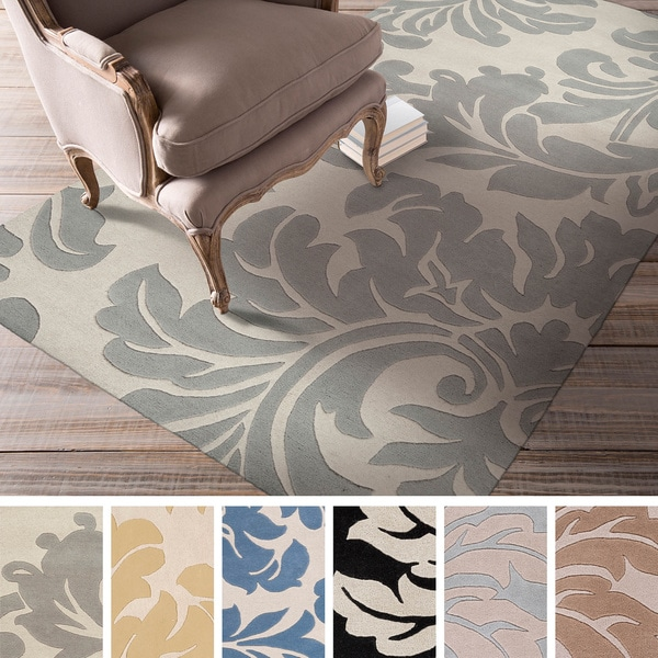 Hand Tufted Paisley Floral Wool Area Rug 6 X 9