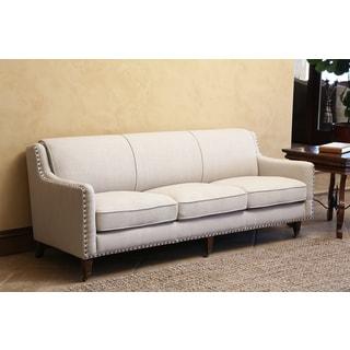 Camden Beige Linen Sofa 15546339 Overstock Com