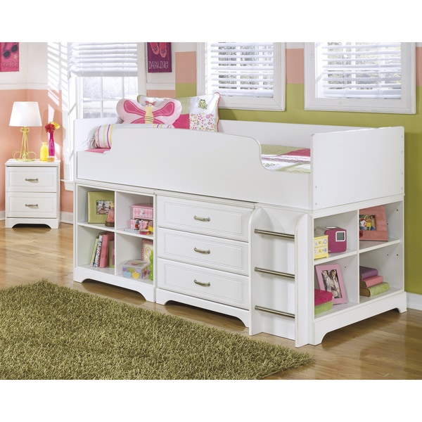 Signature Design By Ashley Lulu White Twin Loft Bed Set