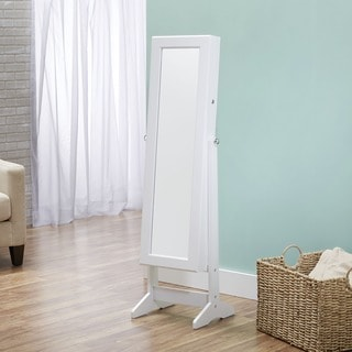 Innerspace Cheval Free Standing White Jewelry Armoire