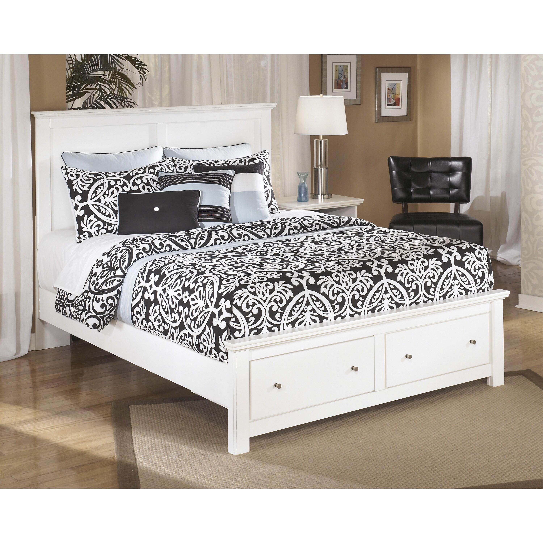 Signature design by ashley bostwick shoals white queen - White queen platform bedroom set ...