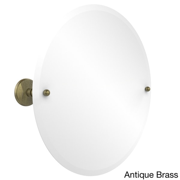 Brass Prestige Monte Carlo Collection Unframed Round Tilt Wall Mirror