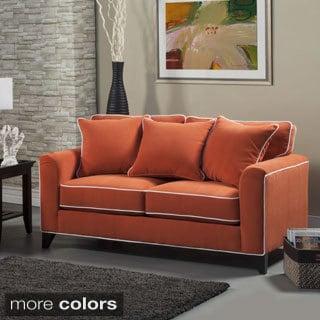 Portfolio Ellie Orange Linen Sofa 15735744 Overstock
