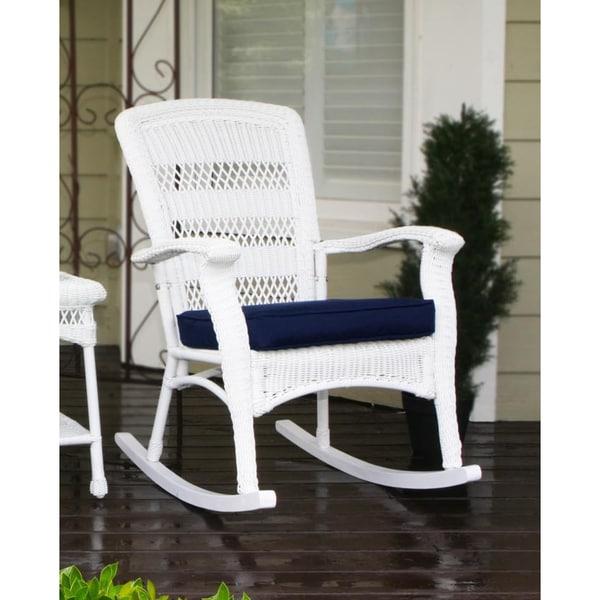Tortuga Outdoor White Plantation Rocking Chair 16614111